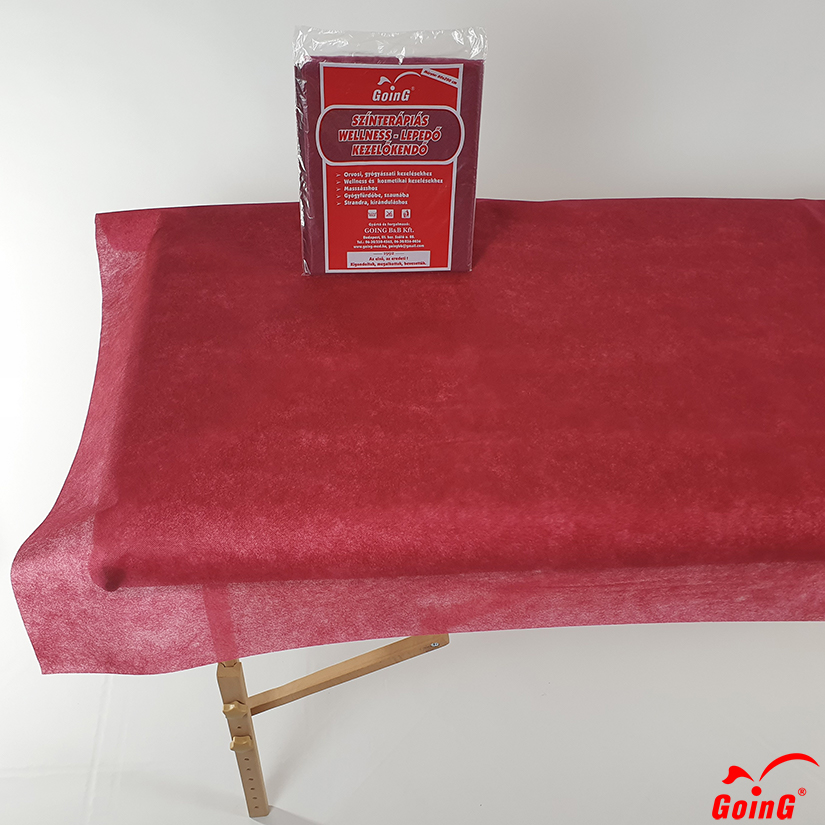1040 Higienic sheet 80x200 deep red