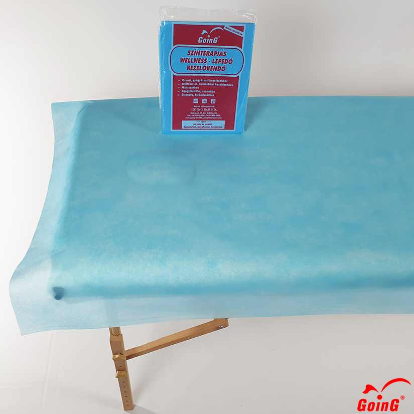 1040 Higienic sheet 80x200 bright blue