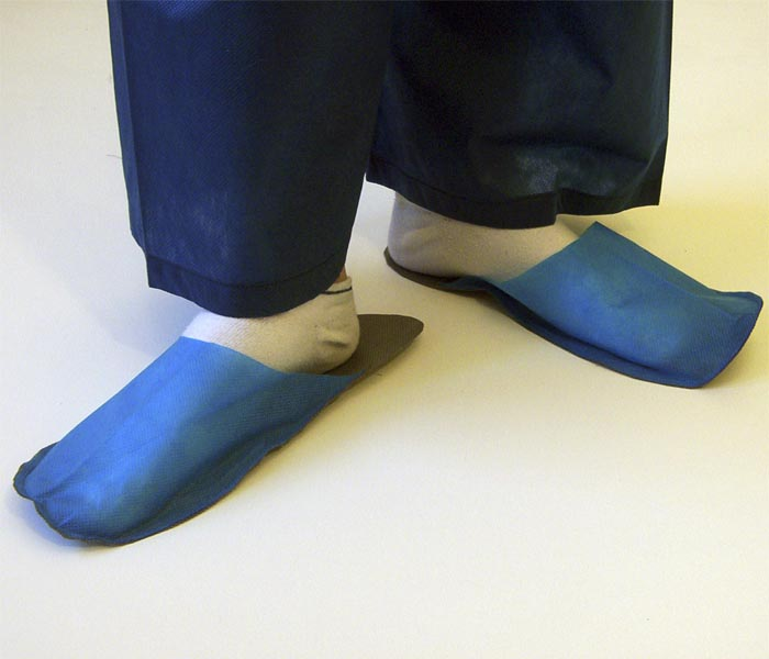 Slippers for guest middle blue 10 pair