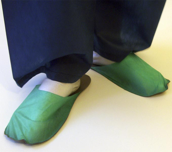 Slippers for guest middle green 10 pair