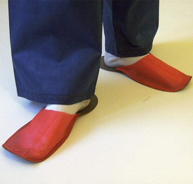 Slippers for guest red 10 pair