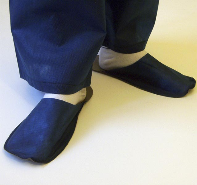 Slippers for guest deep blue 10 pair