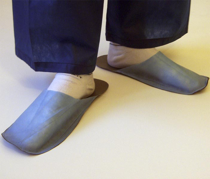 Slippers for guest bright blue 10 pair