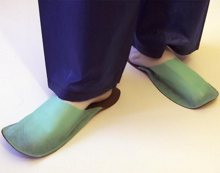 Slippers for guest bright green 10 pair